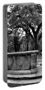 Old Sheldon Church Ruins Beaufort Sc Black And White Portable Battery Charger