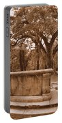 Old Sheldon Church Ruins Beaufort Sc Sepia Portable Battery Charger