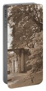 Old Sheldon Church Ruins Sepia 2 Portable Battery Charger