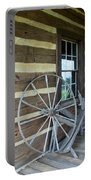 Old Spinning Wheel Portable Battery Charger