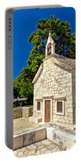Old Stone Chapel In Primosten Portable Battery Charger