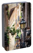 Old Street Light In Barcelona, Spain Portable Battery Charger