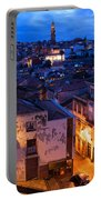 Old Town Of Porto In Portugal At Dusk Portable Battery Charger