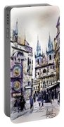 Old Town Square In Prague Portable Battery Charger
