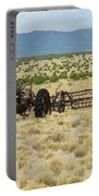Old Tractor And Rake In New Mexico Portable Battery Charger