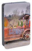 Old Truck And Gas Filling Station Portable Battery Charger