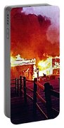 Old Tucson Arizona In Flames 1995  Portable Battery Charger