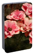 Old Victorian Fuchsia Pink Rose Portable Battery Charger