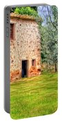 Old Villa And Olive Trees Portable Battery Charger