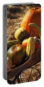 Old Wagon Full Of Autumn Fruit Portable Battery Charger by Garry Gay