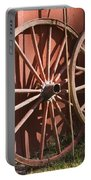 Old Wagon Wheels Portable Battery Charger