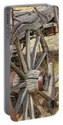 Old Wagon Wheels From Montana Portable Battery Charger