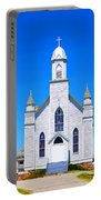 Old Weathered Church On Hill Top Portable Battery Charger