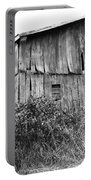 Old West Virginia Barn Black And White Portable Battery Charger