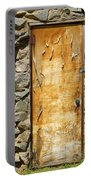 Old Wood Door And Stone - Vertical  Portable Battery Charger