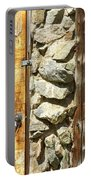Old Wood Door Window And Stone Portable Battery Charger