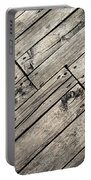 Old Wooden Boards Nailed Portable Battery Charger