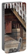 Old Wooden Cabin Log Detail Portable Battery Charger