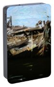 Old Wooden Fishing Boat Portable Battery Charger