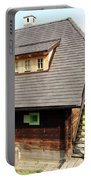 Old Wooden House On Mountain Portable Battery Charger