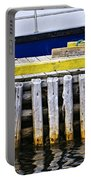 Old Wooden Pier In Newfoundland Portable Battery Charger