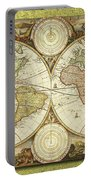 Old World Map On Gold Portable Battery Charger