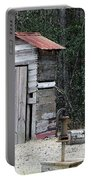 Oldtime Outhouse - Digital Art Portable Battery Charger