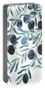 Olive Watercolor 2018 Portable Battery Charger