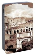 Colosseum From Roman Forums  Portable Battery Charger