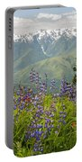 Olympic Mountain Wildflowers Portable Battery Charger