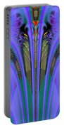 Olympic Torch And Fireworks Fractal 162 Portable Battery Charger