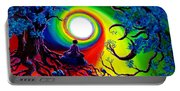 Om Tree Of Life Meditation Portable Battery Charger