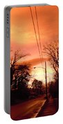 Ominous Orange Skies 1 Portable Battery Charger