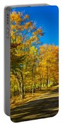 On A Country Road 4 - Paint Portable Battery Charger