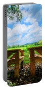On A Pretty Summer Day Oil Painting Portable Battery Charger