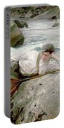 On His Holidays Portable Battery Charger by John Singer Sargent