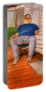 On The Porch With Uncle Pervy Portable Battery Charger