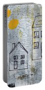 On The Same Street Portable Battery Charger by Linda Woods