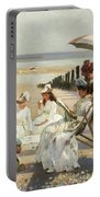 On The Shores Of Bognor Regis Portable Battery Charger by Alexander M Rossi