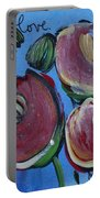 Once Upon A Yoga Mat Poppies 3 Portable Battery Charger