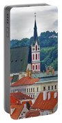 One Of The Churches In Cesky Kumlov In The Czech Republic Portable Battery Charger