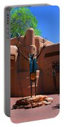One Of The Many Art Galleries In Santa Fe Portable Battery Charger by Susanne Van Hulst