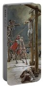 One Of The Soldiers With A Spear Pierced His Side Portable Battery Charger by Tissot