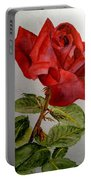 One Single Red Rose Portable Battery Charger