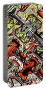 One Version Yellow And Red Abstract Portable Battery Charger
