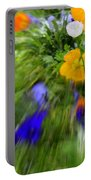 One Beautiful White Flower Portable Battery Charger