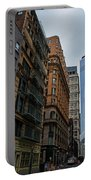 One World Trade Center New York Ny From Nassau Street Portable Battery Charger