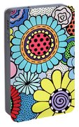 One Yellow Bloom Portable Battery Charger