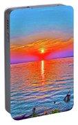 Oneida Lake Sunset Art Portable Battery Charger