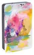 Oniric Landscape Reflections With Sun And Bird Portable Battery Charger